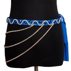 Image 1 - Belly Dance Accessories Women Handmade Rhinestones Waist Chain Belly Dance Costumes Hip Belt Chain Women Jewelry