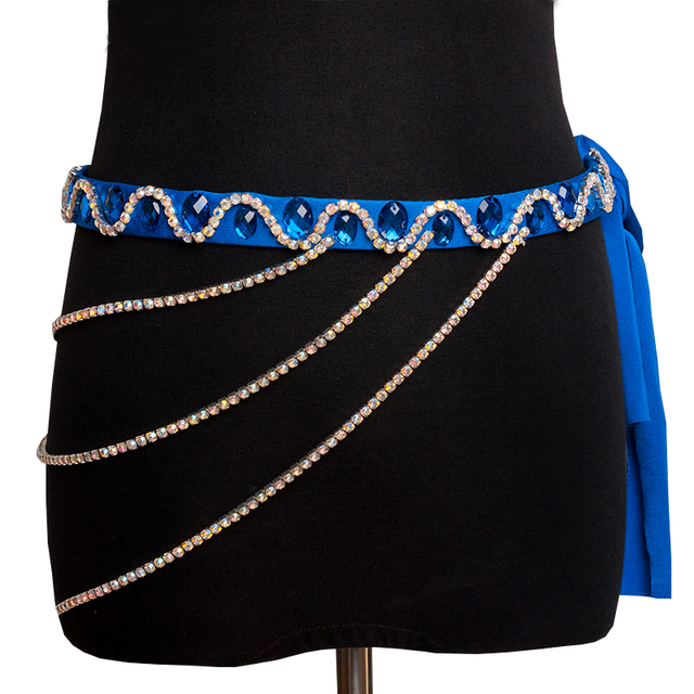Belly Dance Accessories Women Handmade Rhinestones Waist Chain Belly Dance Costumes Hip Belt Chain Women Jewelry