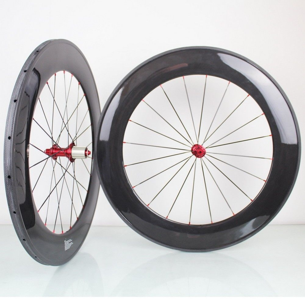 700C 23mm width 88mm clincher tubular wheel carbon bicycle wheels road bike wheelset Carbon Bike Road Wheels