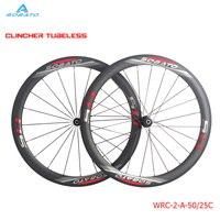 Carbon Road Wheelset 50mm Depth 23mm Width Carbon Wheels Clincher Road Bike Wheels With SOBATO R13 Hub