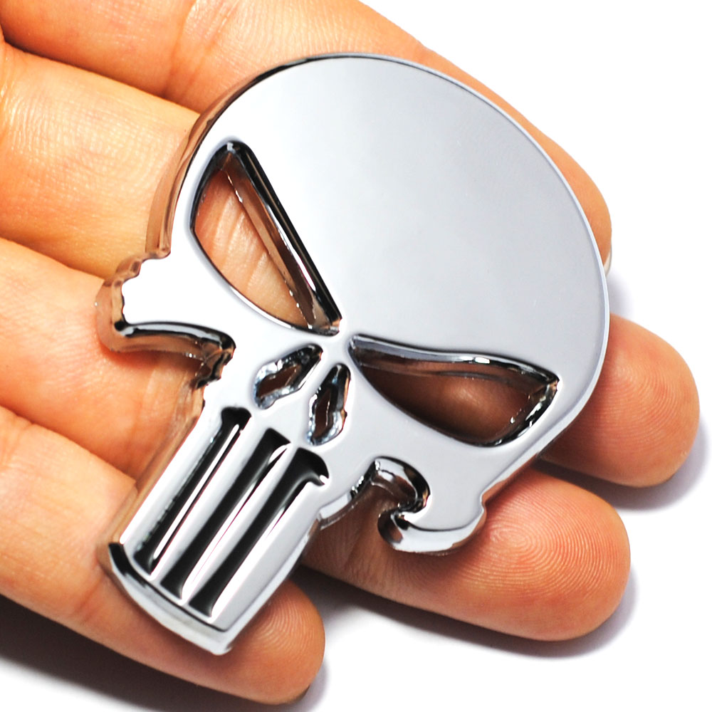 Cool 3D Skull Metal Skeleton Car Motorcycle Sticker Label Skull Emblem Badge Motorcycle Car Styling Stickers Decal Accessories airsoft adults cs field game skeleton warrior skull paintball mask