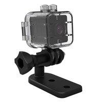 100% 최신 SQ12 HD 1080 마력 미니 카메라 나이트 비전 미니 캠코더 스포츠 야외 DV 음성 비디오 레코더 액션 방수 카메