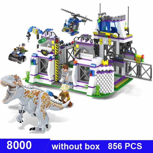 <font><b>TS8000</b></font> jurassic world dinosaur Bricks Tyrannosaurus Base Escape figures toys for children Compatible building blocks Toys gift image