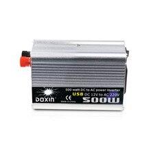 500 واط سيارة العاكس 12 فولت إلى 220 فولت عاكس الطاقة 12 فولت 220 فولت العاكس محول إمداد الطاقة النقال شاحن يو اس بي