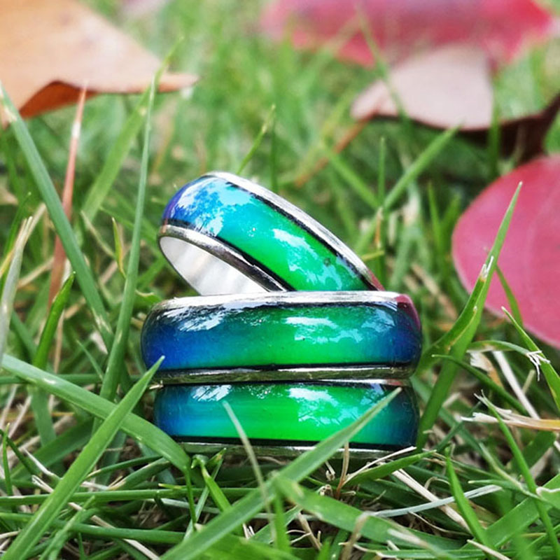 Schmuck & Zubehör Willensstark Edelstahl Ring Farbe Ändern Mood Ringe Gefühl/emotion Temperatur Ring Breite 6mm Smart Schmuck Fabrik Direkt Verkauf
