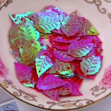 Free shipping 300pcs/lot  13*22mm Leaf with 2 holes sequins Red colors Jewelry Accessories cloth crafts confetti clothing