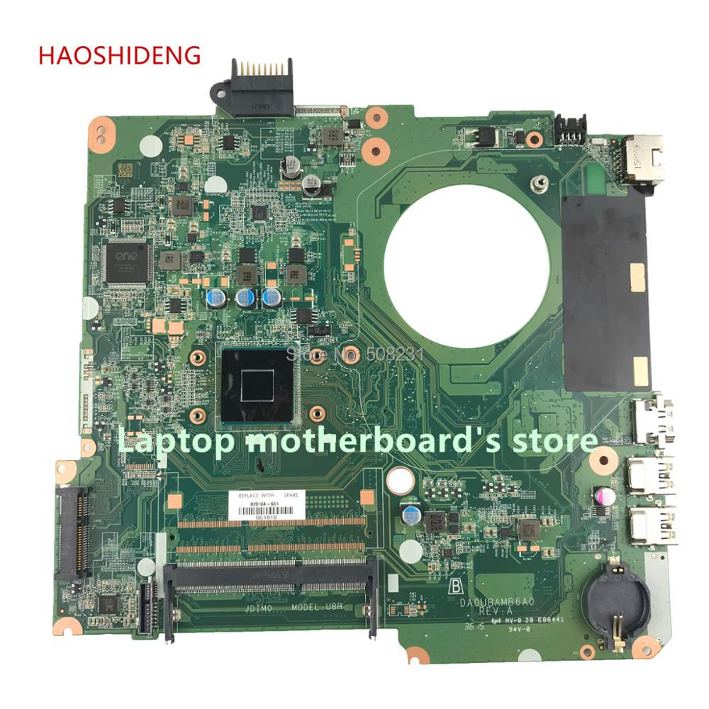 HAOSHIDENG 828164-601 828164-001 DA0U8AMB6A0 mainboard for HP Pavilion 15-F 15-F289NR Laptop motherboard CelN2840 fully Tested one piece swimwear women 2017 hot sale plus size sexy polka dot swimsuit halter bandage push up monokini retro swim bathing suit