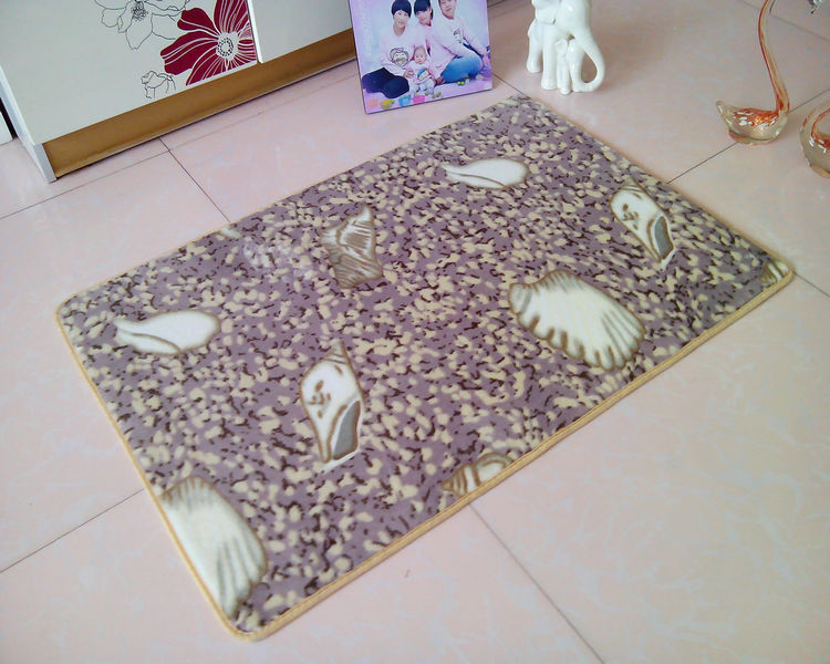 Parlor Pastoral Cartoon Room Spot Sales Coral Velvet Home Pad To The Bedroom Carpet Against The