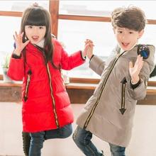 2016 children new winter down jacket altman glasses design boy girl cartoon duck down coat to keep warm thick jacket outwear