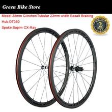 Суперкомандный дорожный велосипед углеродная колесная набор 38 мм клинчер Базальтовые карбоновые колесные диски DT350 ступица UD матовое покрытие Sapim Велосипедное колесо
