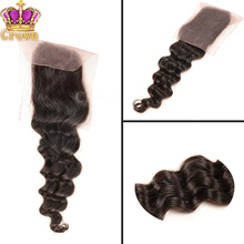 6ABrazilian Lace Closure Brazilian Deep Wave Lace Closure Bleached Knot 4X4 Virgin Human Hair Closure Free Middle Part very soft