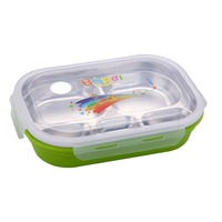 1pcs High Quality Stainless Steel 304 Children Style Lunch Bo Microwave Bento Box