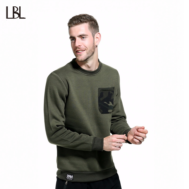 Europe Size Autumn Winter Men Hip Hop High Street Long Sleeve Hoodies Fashion Camouflage Casual Sweatshirts Men Sportswear WY10