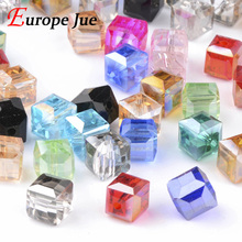 High quality 200pcs mix beads AAAAA Square shape Upscale Austrian crystal beads 2mm 3mm 4mm 6mm 8 loose quadrate glass supply