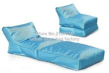 Blue portable bean bag chair, folding outdoor beanbag hammock, Good quality bean furniture sofas set — waterproof