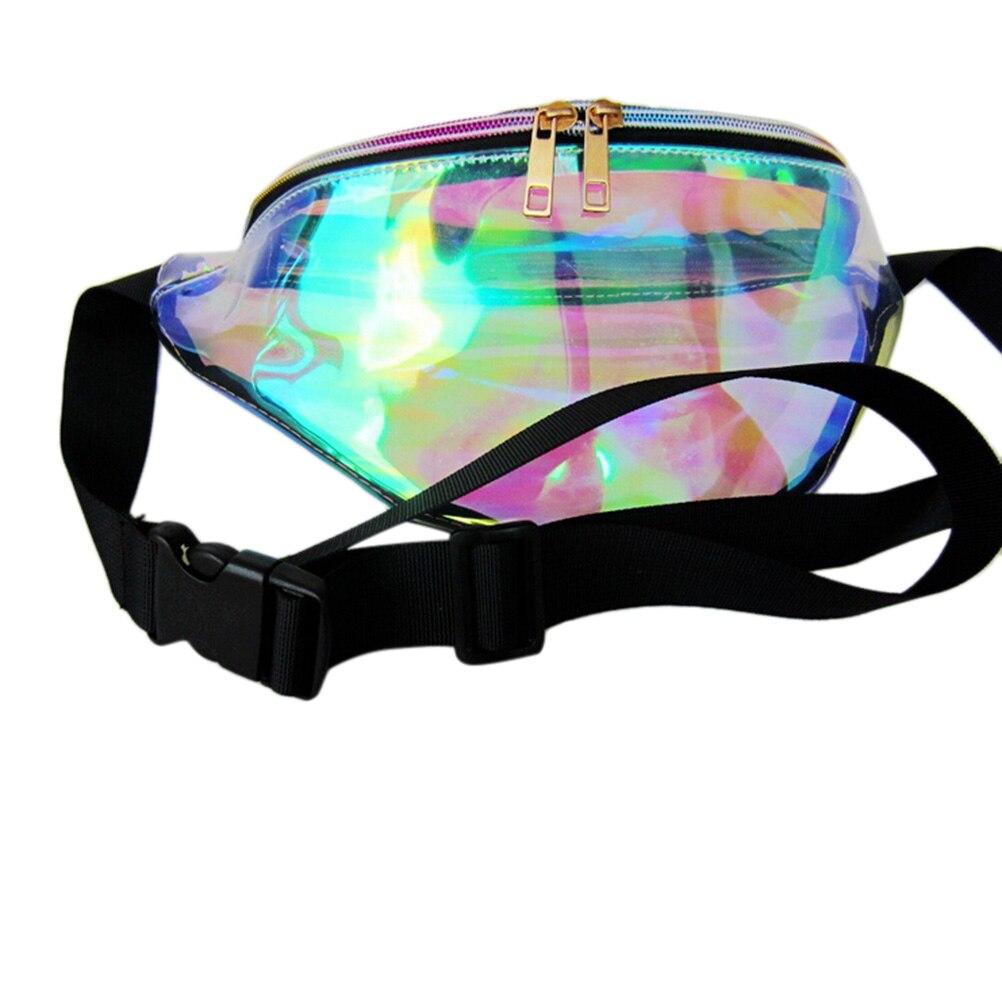 262732915a31 1Pcs Transparent Bag FANNY PACK Punk Bum Bag Chic Hologram Purse Fashion  Waist Pack Rainbow