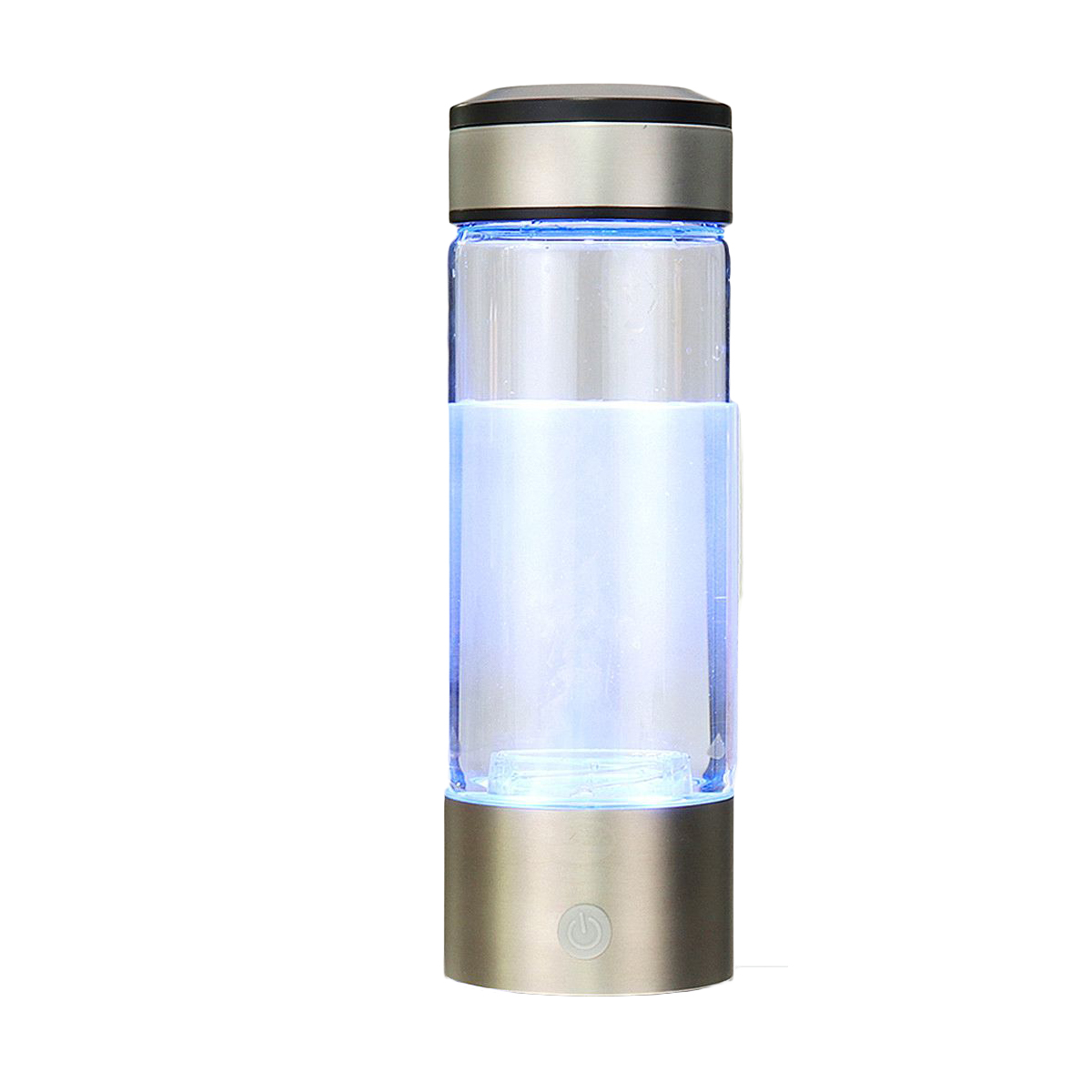 Portable Hydrogen-Rich Water Bottle Alkaline lonizer Hydrogen-Water Generator Maker Rechargeable Water Bottle 380ML Anti-Aging image