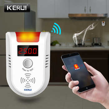 KERUI WIFI APP Voice Prompt Combustible Gas Leakage Detector Alarm System Display Screen Wireless Security Gas Sensor Alarm - DISCOUNT ITEM  34% OFF All Category