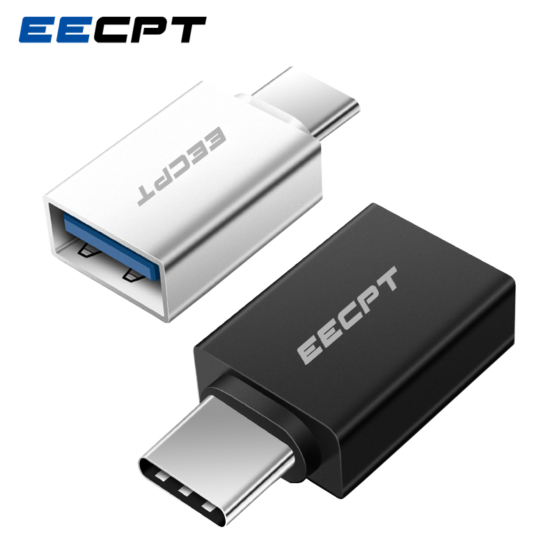 EECPT OTG Type-C USB C Adapter Type C To USB 3.0 Charger Data Converter Adapter For Macbook Samsung Galaxy S9 S8 Huawei One Plus