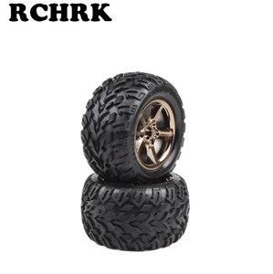 Комплектующие для колесных шин ET1052, диаметр колес 136 мм, ширина 73 мм, адаптер 17 мм, подходит для RC автомобилей 1/10 VKAR BISON, 2 шт.