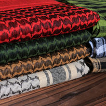 100%Cotton Thicker Arab Scarves Men Winter Military Keffiyeh Windproof Scarf Muslim Hijab Shemagh Tactical Desert Square Wargame
