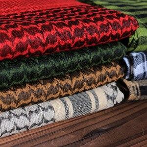 Image 3 - 綿 100% 厚いアラブスカーフ男性の冬の軍事 Keffiyeh 防風スカーフイスラム教徒ヒジャーブ Shemagh タクティカル砂漠正方形ウォーゲーム