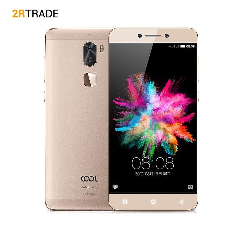 D'origine LeEco Cool1 double Coolpad C103 4g LTE 5.5 FHD 13MP Double Camers D'empreintes Digitales 4 gb RAM 32 gb ROM Mobile Téléphone