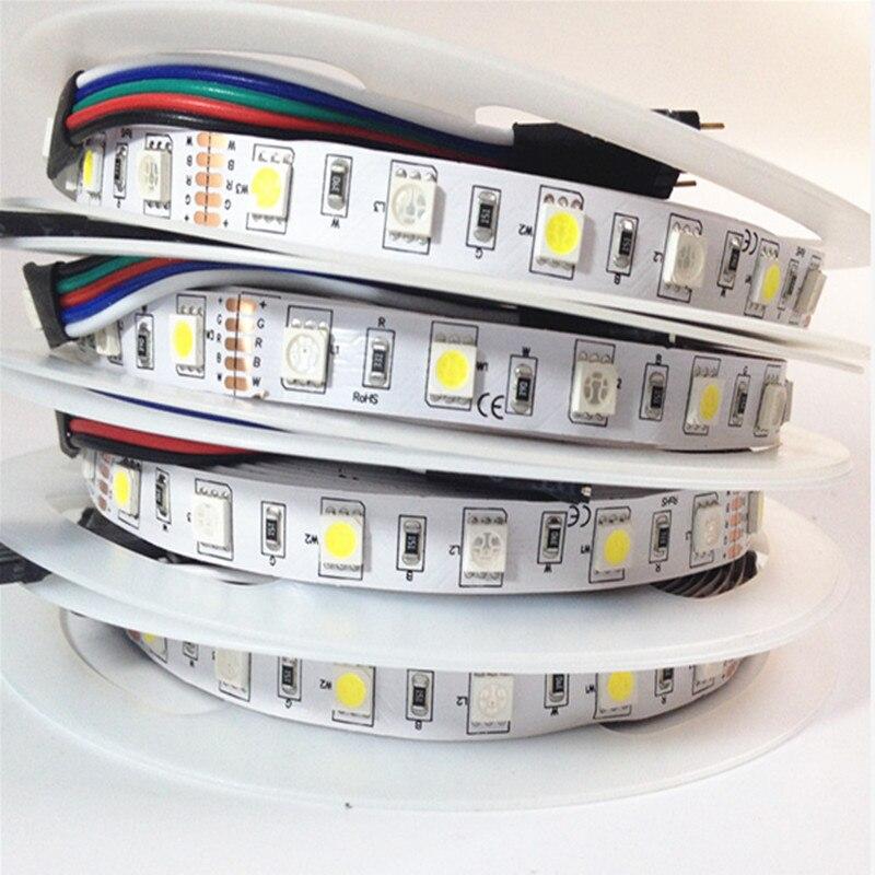 DC24V 12V 12mm10mm RGBW led strip light 5050 SMD 5M 300 led WaterproofIP65 IP67 flexible tape rope stripe light RGBWW free ship