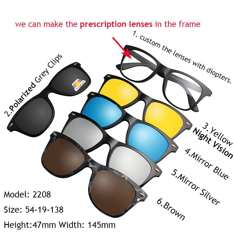 IVSTA 5 Clip On Solglasögon Män Polariserad Magnet Solglasögon - Kläder tillbehör - Foto 6