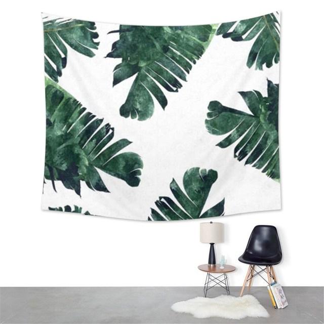 150X130 Cm Bananenblatt Tapisserie Wandbehang Wohnheim Bettdecke Strand  Handtuch Yoga Mat Blanket Hause Raum Wandaufkleber