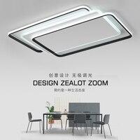 Прямоугольник светодио дный потолочные светильники для офиса живут кроватями ультра тонкий акрил поверхностного монтажа современных свет