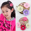 10pcs Korean Hair Accessories Hairpin Small Sunflowers Around The Ribbon Flower Baby Polygon Edge Clip