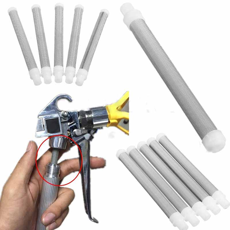 5Pcs High Quality Stainles Steel 60 Mesh Airless Paint Spray Gun Filter Screen Elements For Wagner