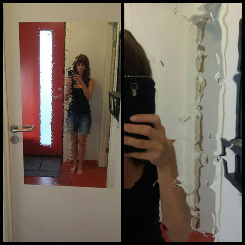 Folie Spiegel Dekorative Wandaufkleber selbstklebende Wandtattoos ...