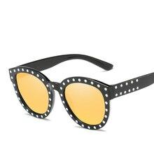 911f5f0cb2 YOOSKE Rhinestone Sunglasses Women Brand Designer Round Cat Eye Frames Sun  Glasses