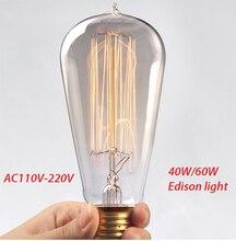 Lightinbox Vintage Edison Bulb Incandescent Light Bulb E27 40W/60W 110/220V Decorative Light Bulb Lighting Tubes Edison Lamp