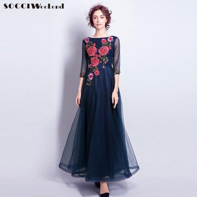 Lange abendkleider dunkelblau