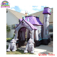 China low price dead tree yard decoration inflatable haunted house,inflatable Halloween bounce house for sale