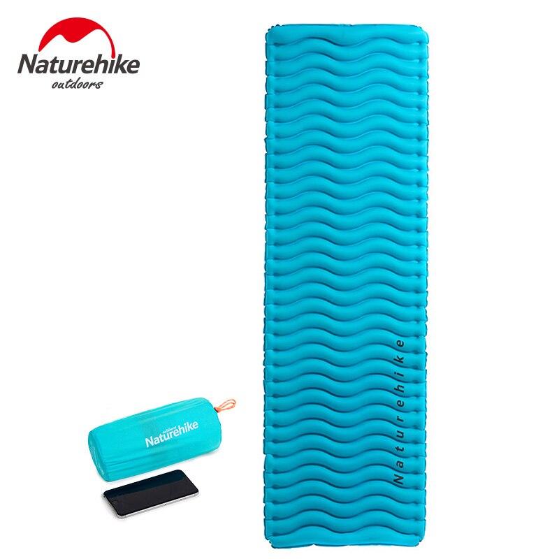 Naturehike Wave Shape Inflating Sleeping Pads Outdoor Camping Mats Inflatable Cushion Waterproof Air Mattress TPU