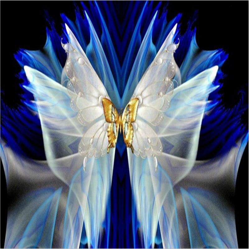 Butterfly Full Round Diamond Painting Cross Stitch Diamond Mosaic Craft Diamond Vyšívání 5D Diy Vyšívání Domácí obrazy