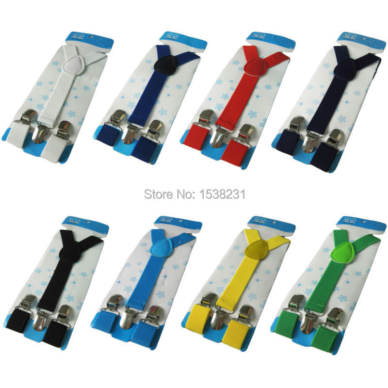 BRACE0002 Kids Boys Girls Toddler Children Y-Shape Suspenders Elastic Adjustable Brace BRACE0002