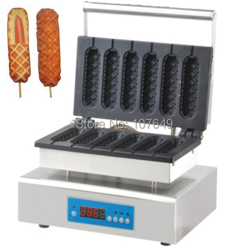 220V Commercial Use Electric Digital Lolly Waffle Maker Iron Machine
