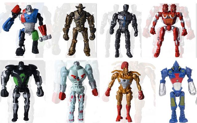 8 unids/lote Fresco Real Steel Atom Midas Noisey Boy Zeus Personajes Figuras de Acción de Juguete Para Niños Juguetes Regalos para Los Niños