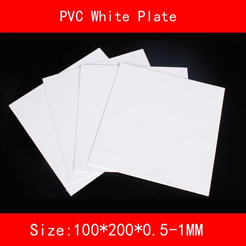 PVC white Sheet Plastic white plate size 100*200mm thickness 0.5mm 1mmPVC white Sheet Plastic white plate size 100*200mm thickness 0.5mm 1mm