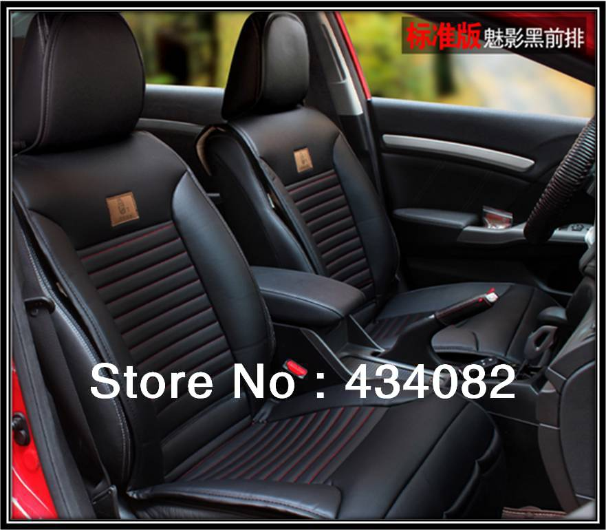2013 Hot Sale Front And Bench Set Soft Leather Car Seat Cover For 5 Universal CarsBlack Buff Brown Color In Automobiles Covers