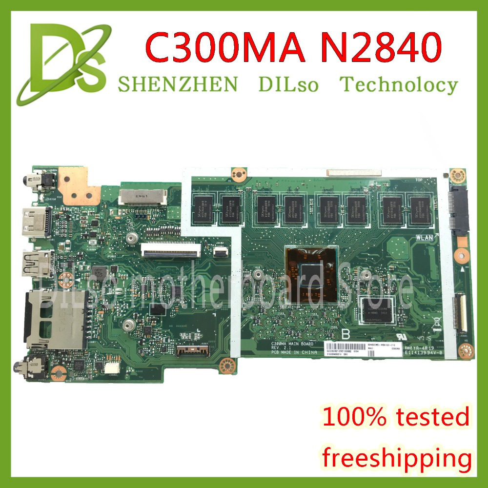 все цены на KEFU C300MA motherboard For ASUS C300MA motherboard N2840 CPU 4G RAM c300ma mainboard rev2.1 work 100% Test original