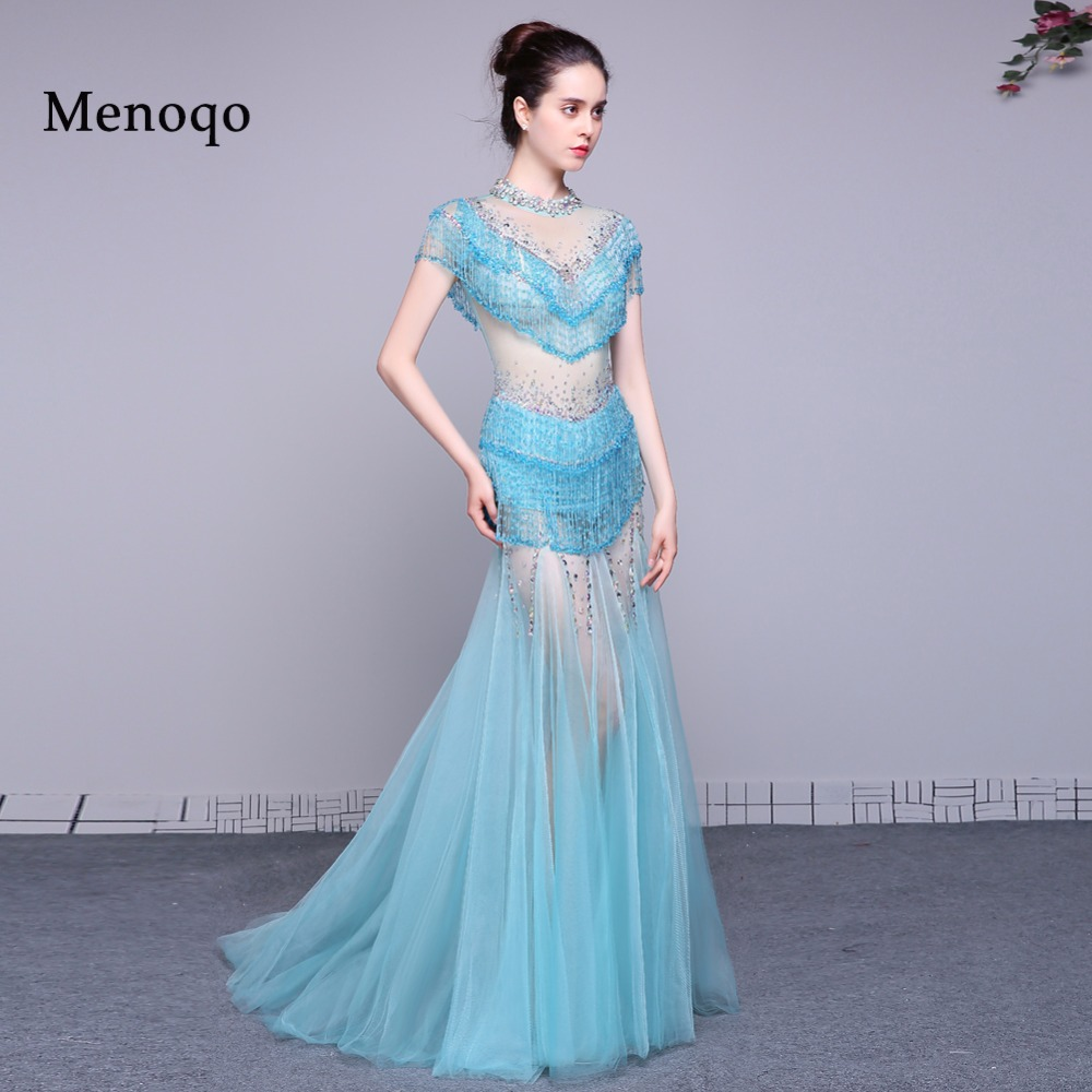 ღ Ƹ̵̡Ӝ̵̨̄Ʒ ღSpecial Offer Fashion Mermaid Cap sleeve Beads Long ...