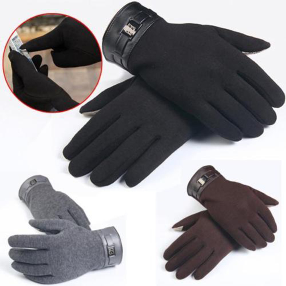Mens gloves for smartphones - Gloves Men Screen Touch Keeping Warm In Winter Male Knit Glove For Iphone Smart Phone Tablet
