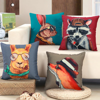 Animal Design Dog Cushion Cover Home Decor Cushion Covers For Sofa Car Chair Throw Pillow Housse