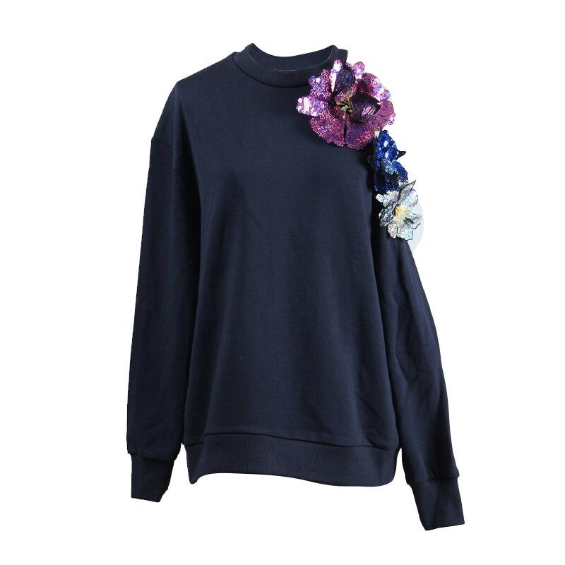 Nuevo suéter negro de mujer sin tirantes de manga suelta chaqueta de cuello alto sabor chic-in Camisetas from Ropa de mujer    1